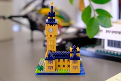 Ein Schloss aus Lego-Steinen